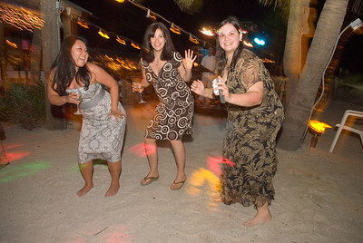 Dancing under the Palms at the North Pavillion of the Beachhouse Restaurant on Anna Maria Island.