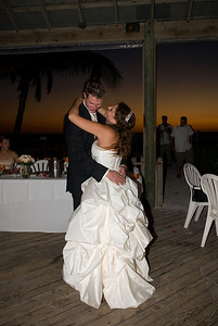 Leah & Ian's first dance in the North Pavillion of the Beachhouse.