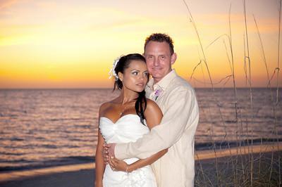 Ana Maria & Nathan's elegant wedding on the beautiful beach of Anna Maria Island. Photos by Dara Caudill www.islandphotography.org