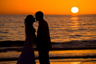 Megan & Shawn's magical sunset on the beach after their Sandbar wedding. http://www.groupersandwich.com/ Music by Chuck Caudill Entertainment www.chuckcaudill.com  Photos by Dara Caudill www.islandphotography.org