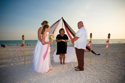 Sherri & Shannon's wedding on the beach of Anna Maria Island.  Coordinated by Chris Tollette of Sol Weddings www.annamariaislandweddings.com  Photos by Dara Caudill www.IslandPhotography.org