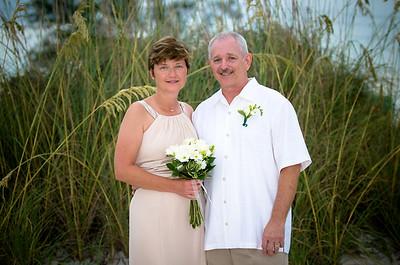 Julie & Steve's wedding with family & friends at the Beachhouse Restaurant on Anna Maria Island.  www.GrouperSandwich.com  Photography by Dara Caudill www.IslandPhotography.org