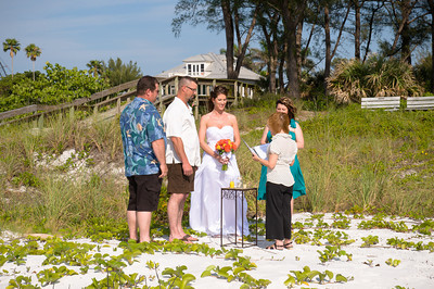 Alicia & Andy's perfect beach wedding on Anna Maria Island. Photos by Dara Caudill www.islandphotography.org Coordinated & officiated by Christina Matthews www.christinaweddings.com Flowers by Edie www.flowersbyedie.com