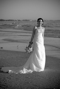 Megan & Shawn after their wedding on the beach in front of the Sandbar Restaurant on Anna Maria Island.  http://www.groupersandwich.com/  Music by Chuck Caudill Entertainment www.chuckcaudill.com  Photos by Dara Caudill www.islandphotography.org