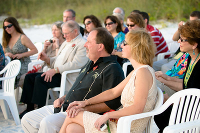 Karen & Jared's beach wedding at the Sandbar Restaurant on Anna Maria Island www.groupersandwich.com  Photos by Dara Caudill www.islandphotography.org Music by Chuck Caudill www.chuckcaudill.com Flowers by Silvia's Flower Corner www.annamariaflorist.com  The bridal party were pampered by Body & Sol Day Spa just before the wedding www.annamariadayspa.com