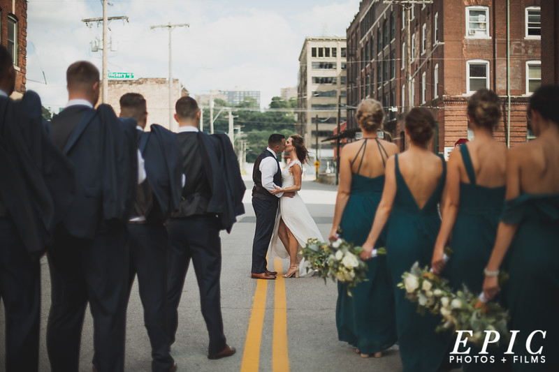Stunning wedding portrait in kansas city