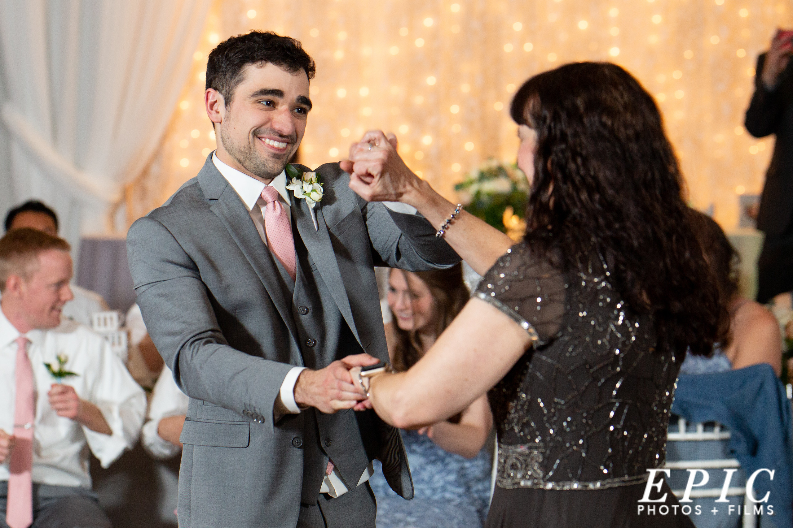 groom dancing with his mother at his wedding