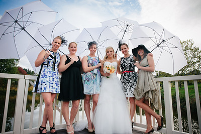 Umbrella wedding chic