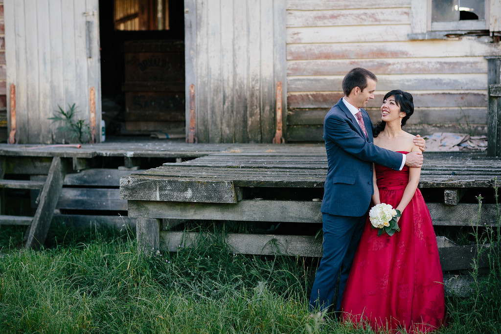 Bridal Portraits at a Rustic Woolshed on the road to Lake Ferry