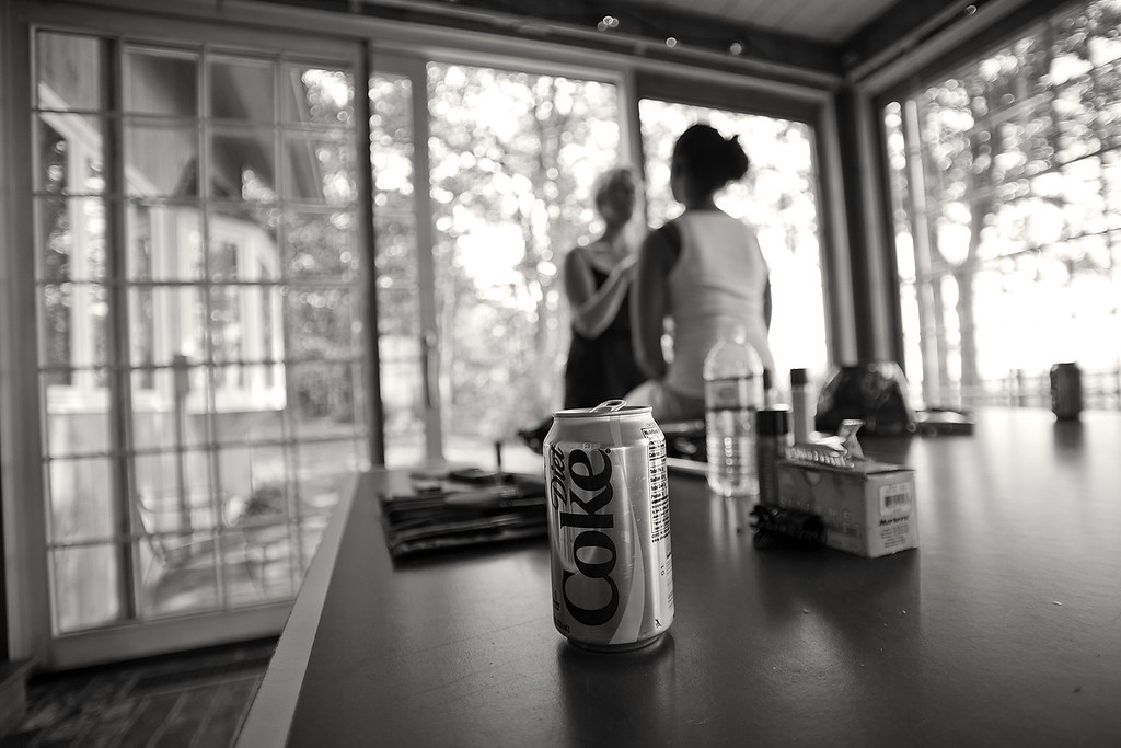 The bride's preparations were underway in the war room.