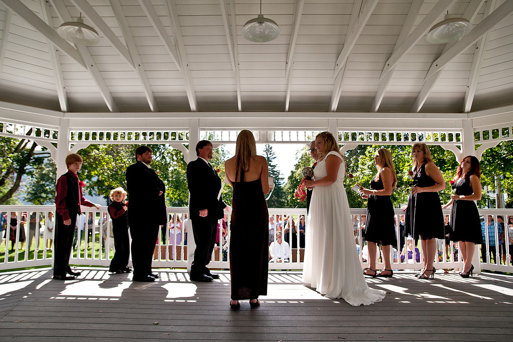 The ceremony took place at noon in the gazebo on the Walpole town common.
