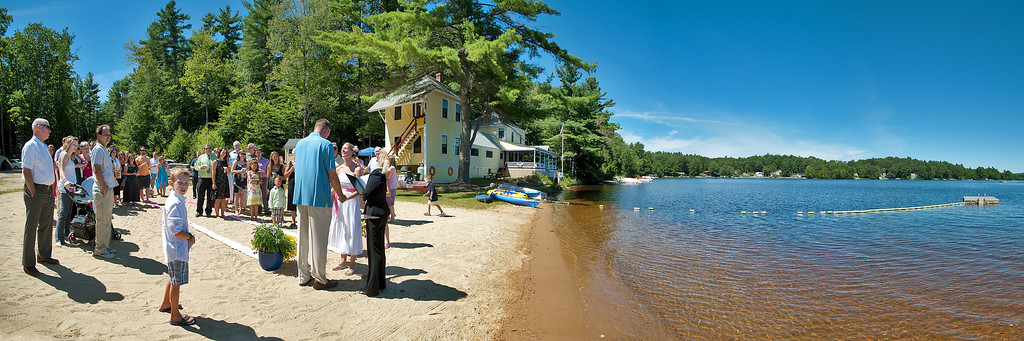 Kristen and Jason were married August 24, 2013 on the beach at Lake Monomonac in Rindge, New Hampshire.