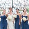 Bride and bridesmaids at Boone Hall Plantation