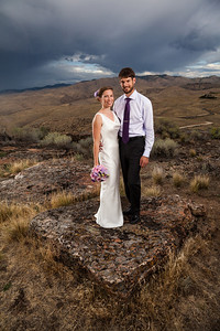 Sarah and Marc at Table Rock after their wedding