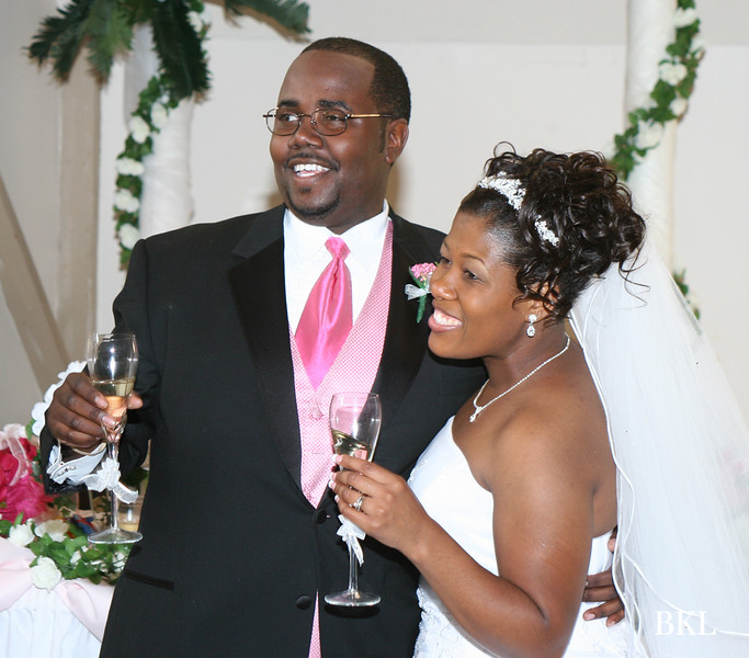 Joe & T'Nesha @ Wedding reception