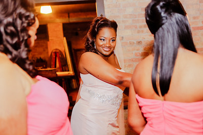 Johnetta Jackson and William Washington's wedding at Architectural Artifacts on Saturday, August 24th, 2013 in Chicago, IL.  Photos by Jasmin Shah.