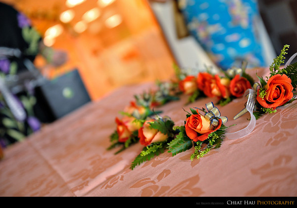Some flower decoration on the reception