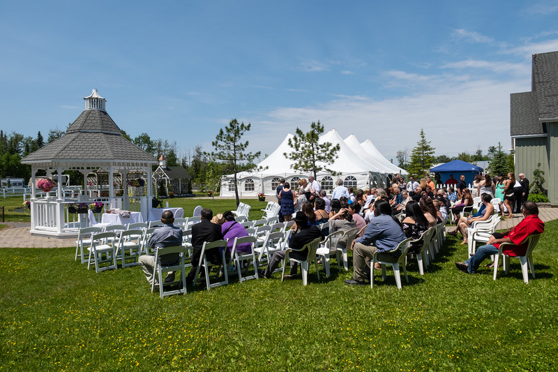 Gazebo wedding starting to fill up.