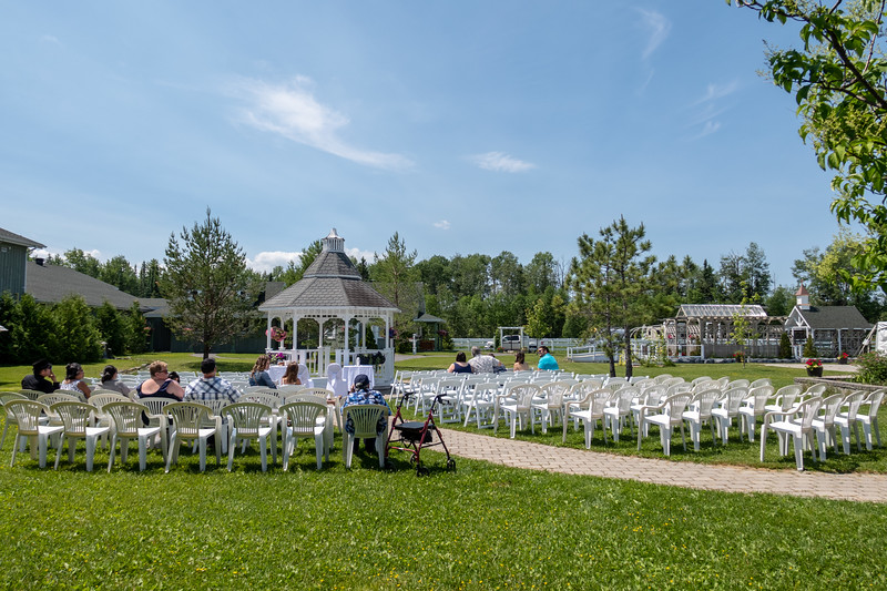 Set up for the wedding of William Etherington and Jenna Smith.