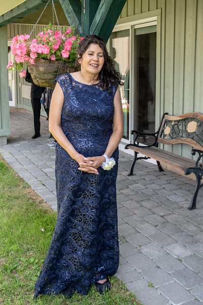 Agnes Etherington, mother of the groom.