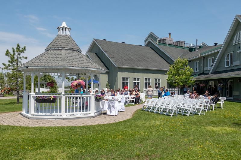 Gazebo wedding setup.