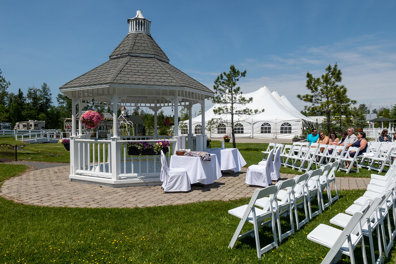 Gazebo wedding setup.