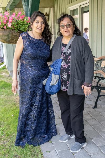 Agnes Etherington with Denise Lantz.