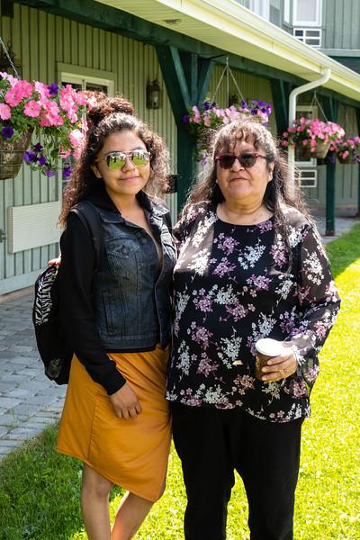 Janet Etherington with Denise Lantz.