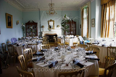 Laid tables in the Dining Room