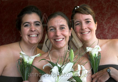 Bride with Sister Bridesmaids