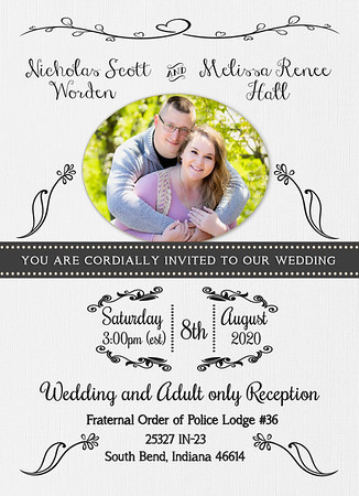 Worden wedding invite