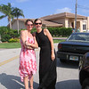 Jenny and Lisa arriving at the wedding