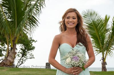Bridesmaid Patricia Beckwith.