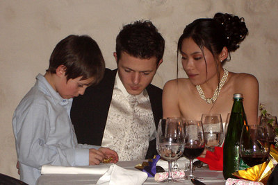 Talking with the ring bearer - Murten, Switzerland ... March 3, 2007 ... Photo by Rob Page III