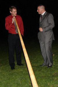 Learning howto play the Alpine Horn - Murten, Switzerland ... March 3, 2007 ... Photo by Emily Conger