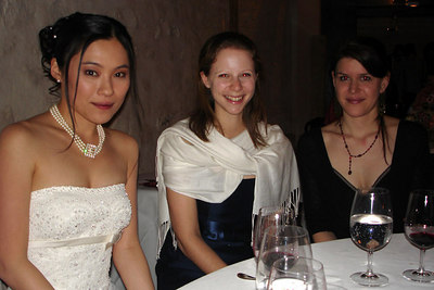 Yasuko, Emily and Sarah at the reception - Murten, Switzerland ... March 3, 2007 ... Photo by Rob Page III