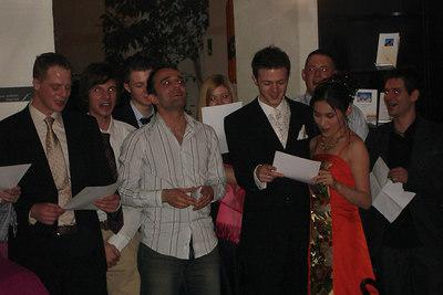 Singing!!! - Murten, Switzerland ... March 3, 2007 ... Photo by Rob Page III