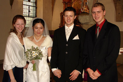 Emily, Yasuko, Nicolas, and Rob - Fribourg, Switzerland ... March 3, 2007 ... Photo by Papa Kato