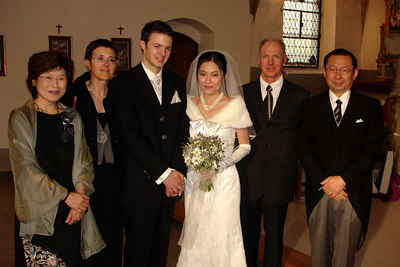 Yasuko, Nicolas, and parents - Fribourg, Switzerland ... March 3, 2007 ... Photo by Rob Page III
