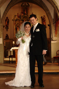 Yasuko and Nicolas after the wedding - Fribourg, Switzerland ... March 3, 2007 ... Photo by Rob Page III