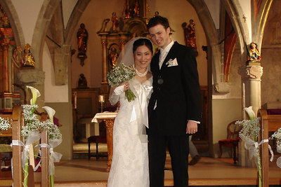 The bride and groom - Fribourg, Switzerland ... March 3, 2007 ... Photo by Rob Page III