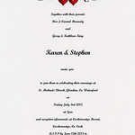 Stephen & Karen's Invitation