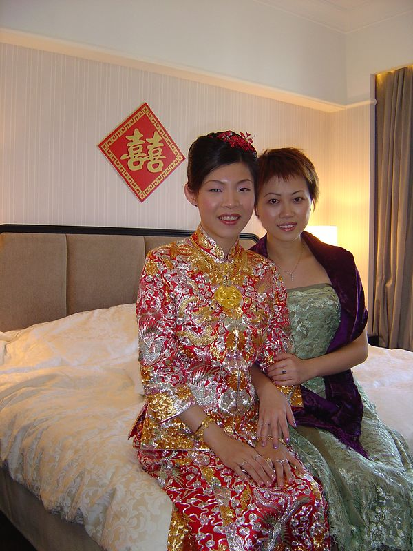 Yvonne and Charing @ Panda Hotel. I'm the Dai Kum on her Big Day.