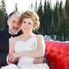 Horse Drawn Sleigh Ride at Big White Ski Resort with Bridal Party