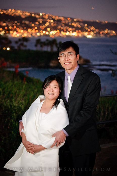 Laguna Beach wedding portrait
