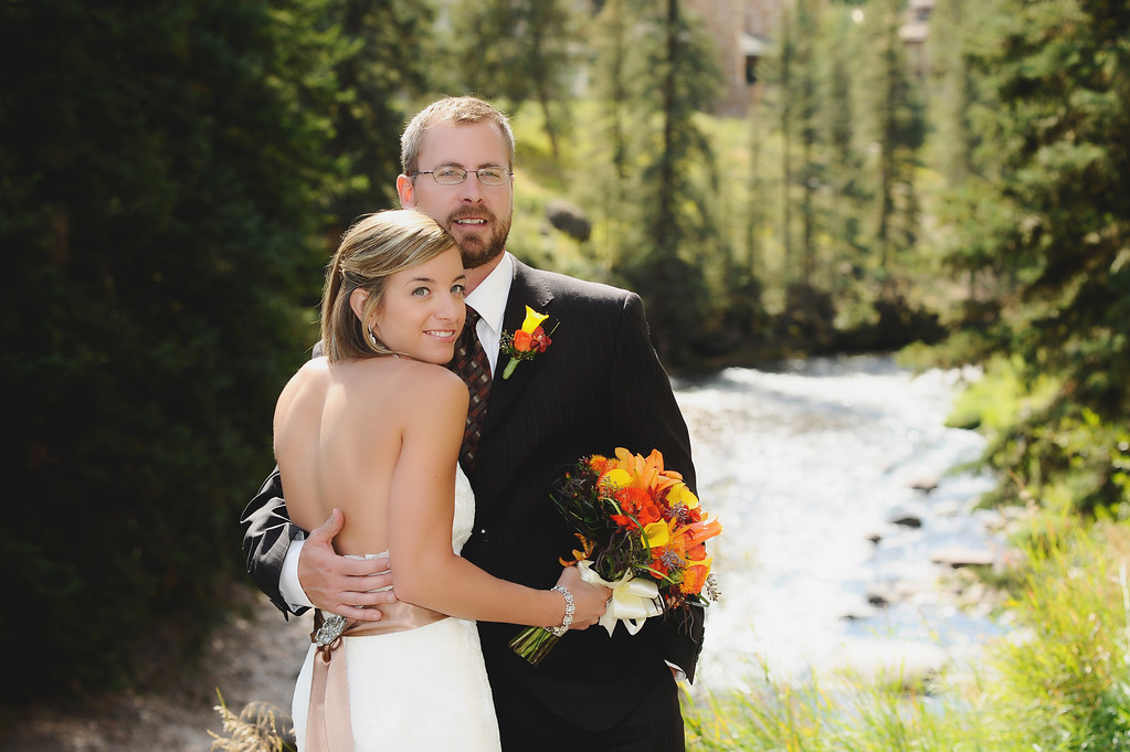 Gore Creek Vail wedding photos