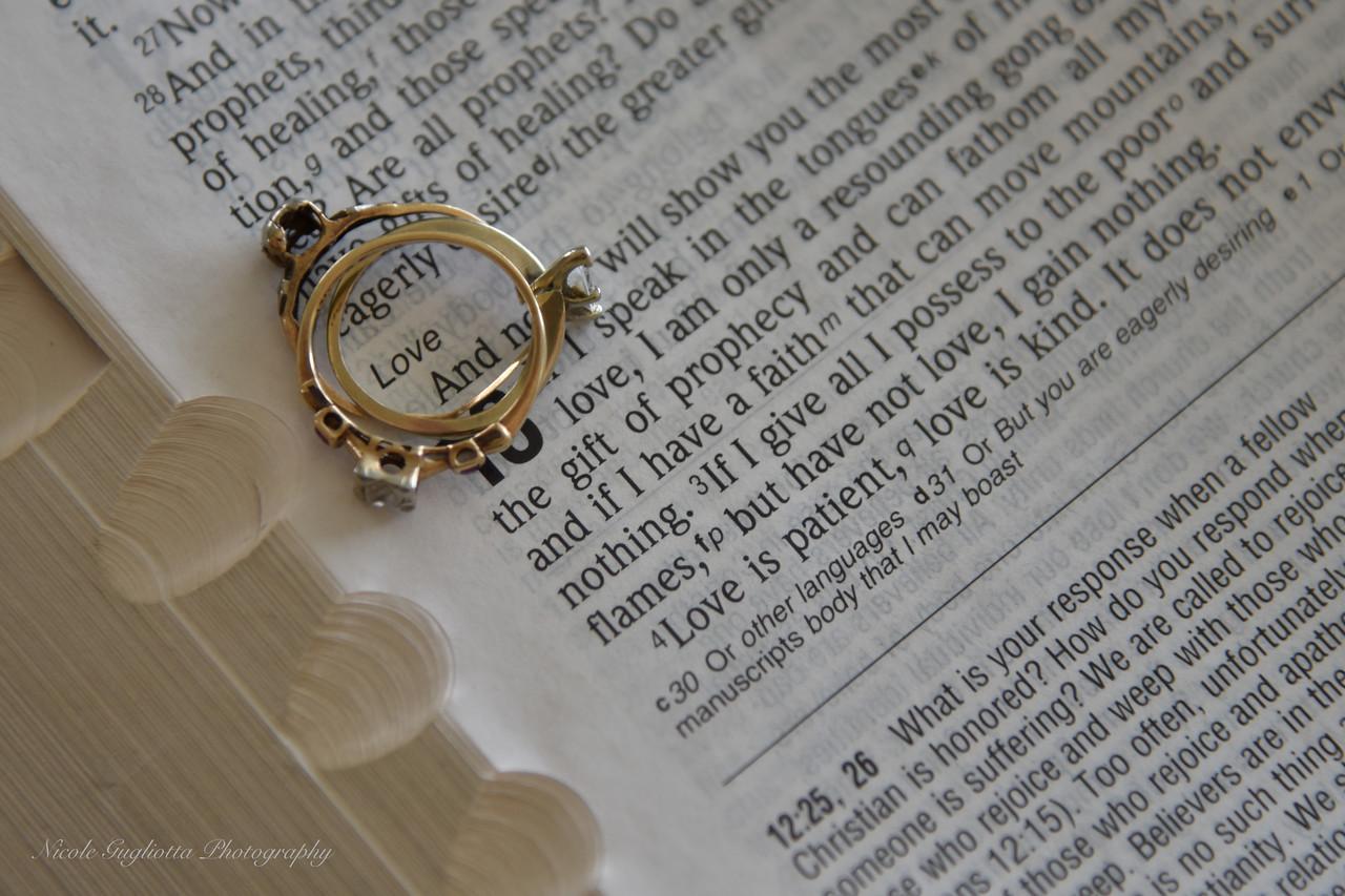 """""""Love is patient, love is kind.""""    --1 Corinthians 13: 4 - 8"""