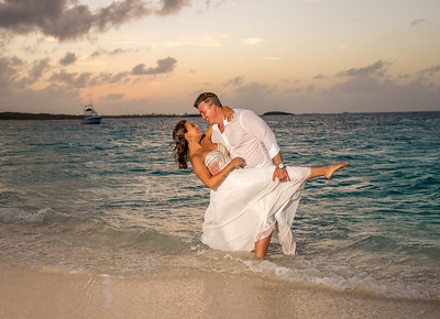 Exuma Bahamas Beach Wedding at Sunset