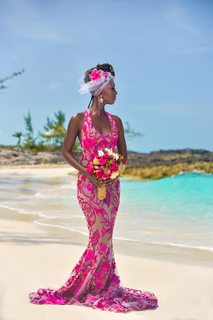 Black Bride in Pink