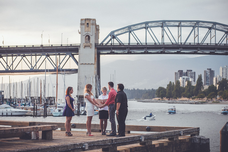 Marriage on the Dock by the Bay
